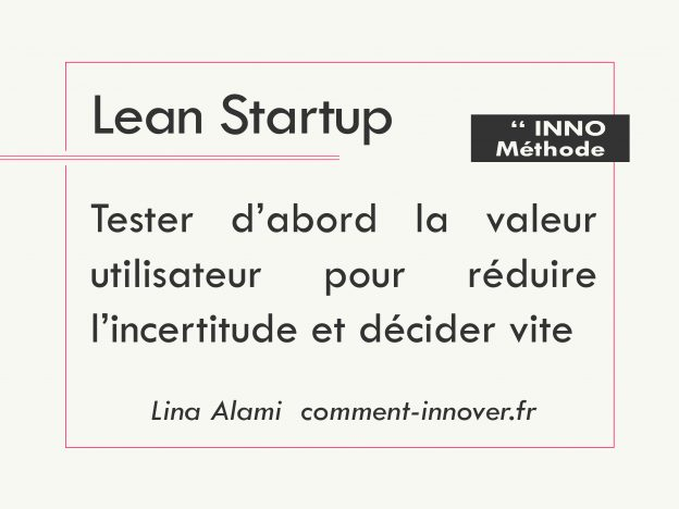 Lean startup comment innover - Lina Alami