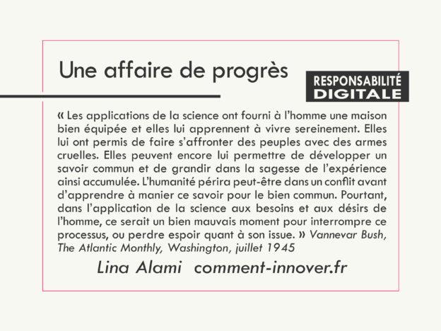 Responsabilité Digitale, une affaire de progrès